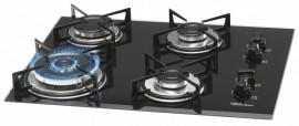 Cooktop Vidro 4Q c/TC Gas 55x46 Preto 12916 Fischer