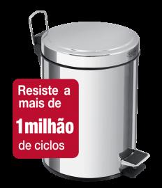 Lixeira c/pedal 12L Inox Brasil 94538/112 Tramontina