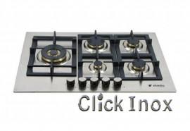 Cooktop 5Q Inox Gas 75cm c/ Multichama 4KW Esquerda Professionale Elanto