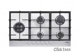 Cooktop 5Q Inox Gás 86cm c/Multichama 4,5kW à Esquerda GLMGT951HIX Glem