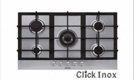 Cooktop 5Q Inox Gas 86cm Multch 4KW Central Glem