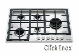 Cooktop 5Q Inox Gas 74cm Multichama 4,5kw DIR S51HIX Glem