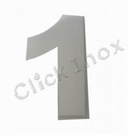 Número 1 Em Aço Inox 304 100mm Rodinox