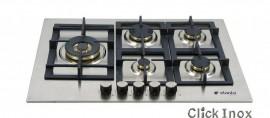 Cooktop 5Q Inox Gas 75cm Multch 4Kw Central Elanto